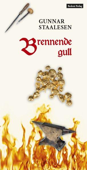 """Forside av boken """"Brennende gull"""""""
