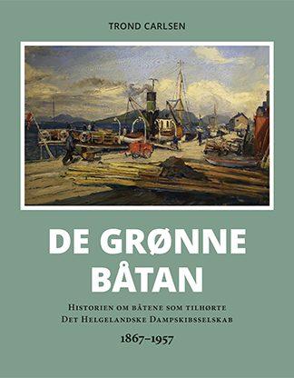 """Forside til boken """"De grønne båtan"""""""