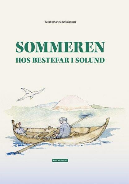 """Forsiden til boken """"Sommeren hos bestefar i Solund"""""""
